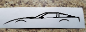 CORVETTE C4 SILHOUETTE VINYL STICKER DECAL CHOOSE COLOR & SIZE