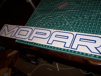 MOPAR WINDSHIELD DECAL CHOOSE COLOR AND SIZE