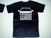 JEEP CHEROKEE XJ FLAG LOGO T-SHIRT CHOOSE SIZE AND COLOR