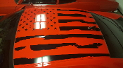 2010 -2018 CAMARO DISTRESSED AMERICAN FLAG FOR ROOF SS Z/28