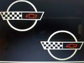 CORVETTE C4 EMBLEM DECAL FOR FUEL RAIL COVERS 1992-1996 SET OF 2