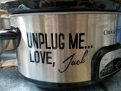THIS IS US CROCKPOT SLOW COOKER DECAL UNPLUG ME JACK PEARSON