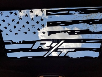Dodge Challenger R T 2009 2018 Distressed Flag Sunroof