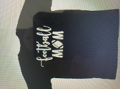 FOOTBALL MOM T-SHIRT CUSTOMIZABLE WITH TEAM, NAME, AND NUMBER