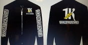 1000 MILES RUN CLUB DRI FIT JACKET W/LOGO SLEEVES, FRONT & BACK