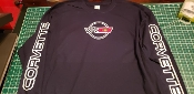 CORVETTE C4 LONG SLEEVE SHIRT SCRIPT ON SLEEVES & LOGO ON FRONT