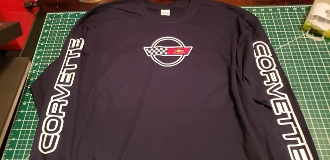CORVETTE C4 SWEATSHIRT SCRIPT ON SLEEVES & LOGO ON FRONT