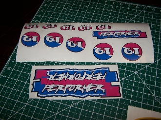 BMX GT PERFORMER DECAL SET 86 87 88