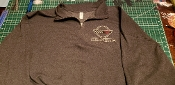 CORVETTE C4 QUARTER ZIP SWEATSHIRT LOGO FRONT LEFT CHEST